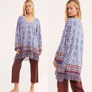 Free People It's A Cinch Poncho M NEW